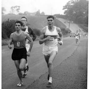John Tarrant leading a road race.