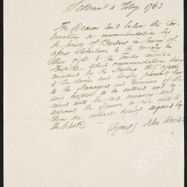Papers Relating to Trades Maiden Hospital