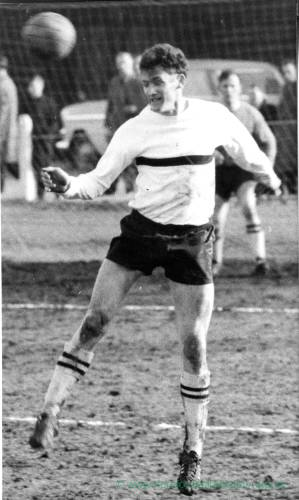 Ray Daniel in action for Hereford United, 1950s.