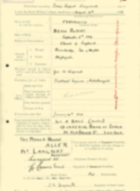 RMC Form 18A Personal Detail Sheets Aug 1935 Intake - page 78