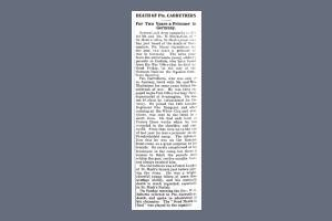 Newspaper Extract - Carruthers H