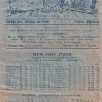19490409 Official Programme Southampton Home FCC