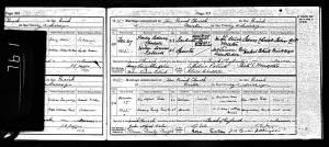 Marriage Certificate - John Alfred Eales