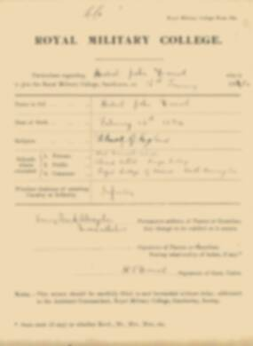 RMC Form 18A Personal Detail Sheets Jan 1915 Intake - page 100