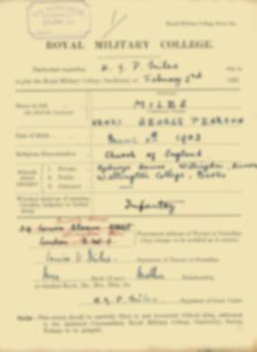 RMC Form 18A Personal Detail Sheets Feb & Sept 1922 Intake - page 99