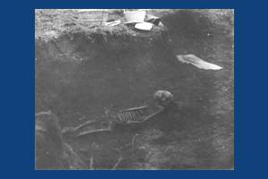 Anglo-Saxon skeleton from cemetery near Morden Road, Mitcham
