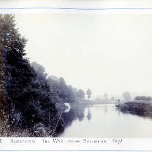 River Wye, view from Breinton, 1891