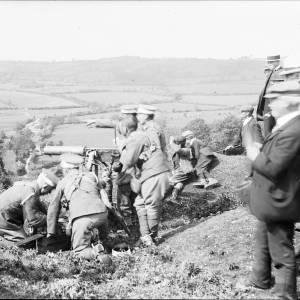 Herefordshire Yeomanry on exercise at Painscastle