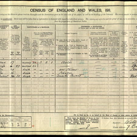 1911 Census - 7 Cambridge Road, Wimbledon