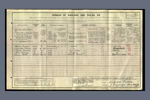 1911 Census - 7 Cambridge Road, Wimbledon