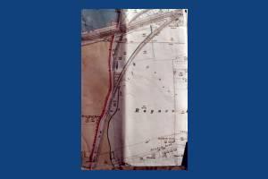 Map of Raynes Park Railway Station, Blenheim Road and Hardwicke House, Raynes Park