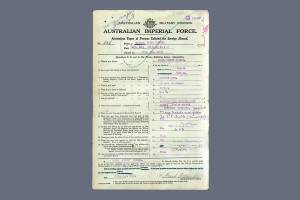 Keable Enlistment Papers