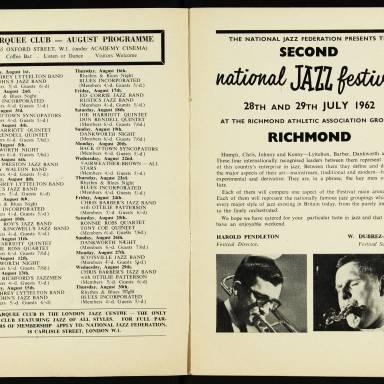 Chris Barber's Jazz Band with Ottilie Patterson, National Jazz Festival, Richmond - 1962 003