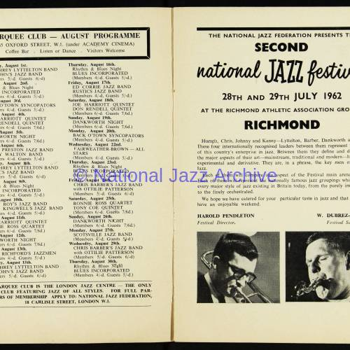 Chris Barber's Jazz Band with Ottilie Patterson, National Jazz Festival, Richmond - 1962 003