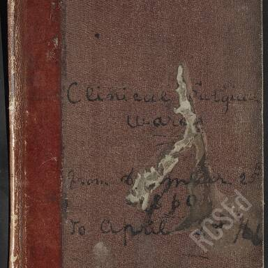 Journal of Clinical Wards (Syme and Annandale), 1860