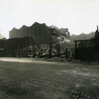 Benbow Street Warehouse, bomb damage, Blitz