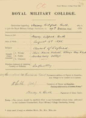 RMC Form 18A Personal Detail Sheets Jan 1915 Intake - page 53