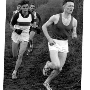 John Tarrant running in a cross country race.