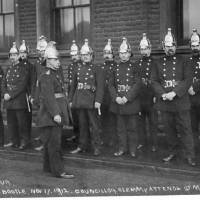 Bootle Fire Brigade Guard of Honour, Mayor's Sunday, Bootle, 1912
