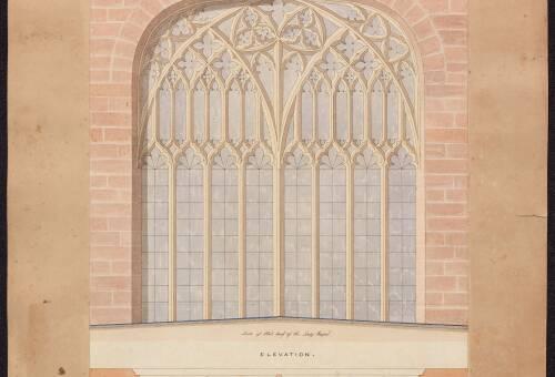 Plan of Eastern Window, 1842, Crediton