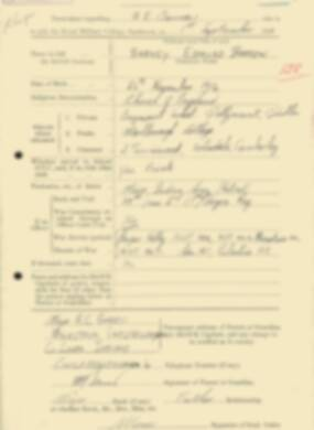 RMC Form 18A Personal Detail Sheets Feb & Sept 1933 Intake - page 158