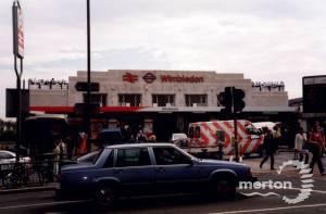 Wimbledon Station and forecourt