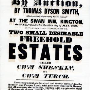 The Swan Inn - Kington - Auction of two farms - 29th of May 1839.jpg
