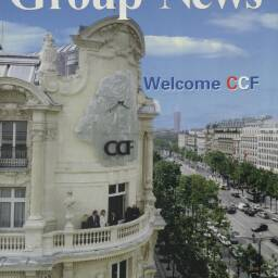 Front cover of the August 2000 edition of 'Group News' welcoming Crédit Commercial de France (CCF) to HSBC