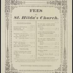 Fees at St Hilda's Church