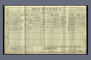 William Rutledge 1911 Census 25 Birkbeck Road