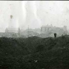 Bomb crater at East Harton