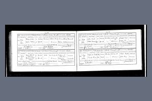 Marriage Certificate for Walter Pattenden and Gertrude Ethel Higham