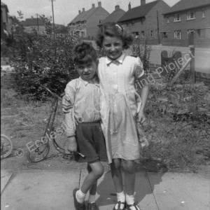 David and June Stacey at 34 Greno Cres. c. 1956