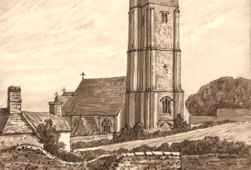 Stoke Fleming Church, 22 September 1876, Devon
