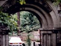 St. Mary's Parish Churchyard, Merton: Former Priory arch
