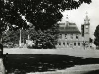 Mitcham town hall and Cricket Green
