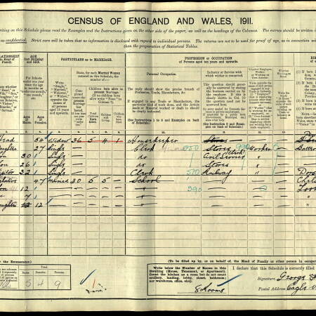 AF Ridout Census 1911 70 Robinson Road