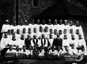 Choir and clergy from St. Mary's Church, Merton Park