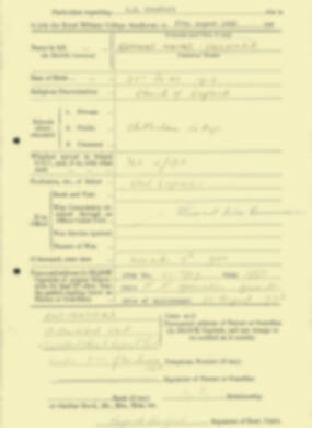 RMC Form 18A Personal Detail Sheets Aug 1935 Intake - page 26