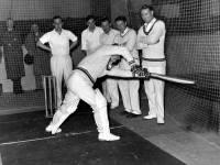 Indoor Cricket Practice, Mitcham Baths Hall