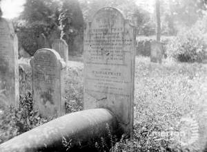 Headstone commemorating Thomas Pratt
