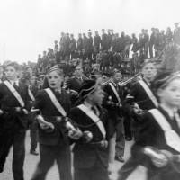 Boys Brigade Marching During the Bootle Victory Parade in 1945
