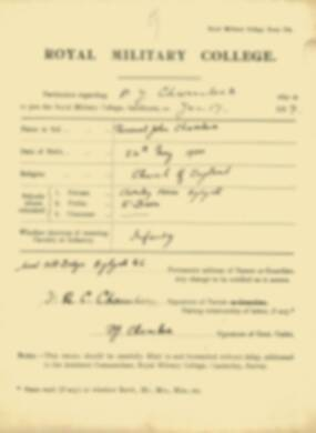 RMC Form 18A Personal Detail Sheets Jan-Sept 1919 - page 9