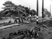 Damage caused by a landmine, Pembroke Road, Mitcham, World War II
