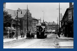 Merton Road, Wimbledon: Tram and delivery wagon