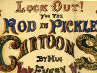 Advert for the cartoons of Mitcham cartoonist Mr.Collingsby aka Mug