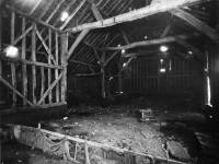 Interior of a barn in the grounds of Hill House