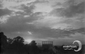 Sunset over Mitcham Gas Works