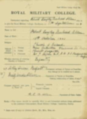 RMC Form 18A Personal Detail Sheets Jan-Sept 1919 - page 2