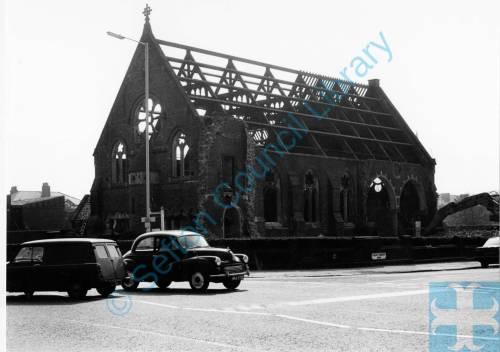 Demolition, St Andrews United Reform church Waterloo